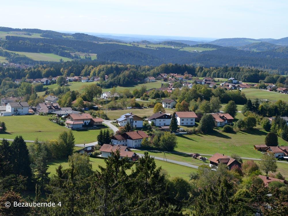 Ausblick auf die Gegend um Neuschönau