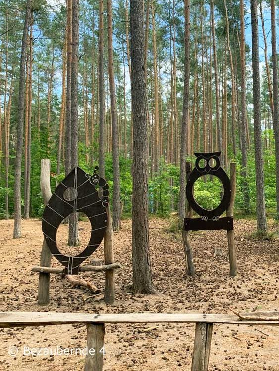 Zapfenwurfstation am Naturerlebnispfad