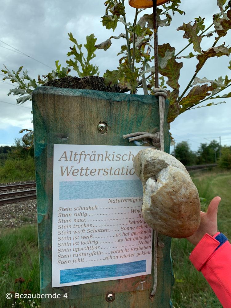 Die Altfränkische Wetterstation auf dem Sandbockelweg