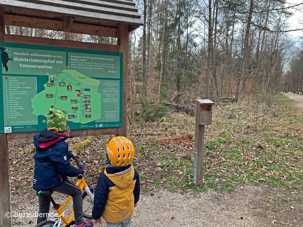 Walderlebnispfad Valznerweiher für Kinder